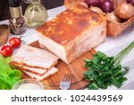 meat and sausages set of fresh... | Shutterstock . vector #1024439569