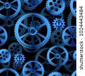 abstract mechanical background  ... | Shutterstock . vector #1024443484