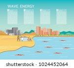 wave power plant  wave energy... | Shutterstock .eps vector #1024452064