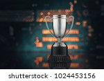 the concept of virtual sports.... | Shutterstock . vector #1024453156