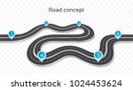 winding 3d road concept on a... | Shutterstock .eps vector #1024453624