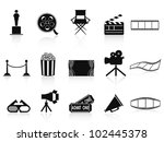 black movies icons set | Shutterstock .eps vector #102445378