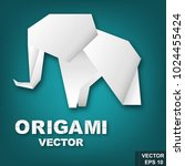 paper. origami. effect. bright. ... | Shutterstock .eps vector #1024455424