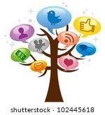 modern social media abstract...