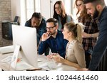 picture of architects working... | Shutterstock . vector #1024461460