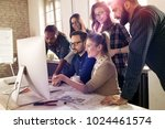 picture of architects working... | Shutterstock . vector #1024461574