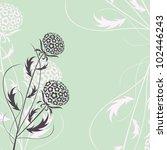 elegant floral background ... | Shutterstock .eps vector #102446243