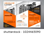 business brochure. flyer design.... | Shutterstock .eps vector #1024465090