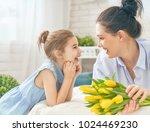 happy women's day  child... | Shutterstock . vector #1024469230