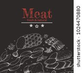 vector background with meat... | Shutterstock .eps vector #1024470880