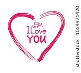 hand drawn valentines heart...   Shutterstock .eps vector #1024471420