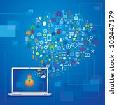 global communication concept   Shutterstock .eps vector #102447179