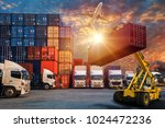 logistics and transportation of ... | Shutterstock . vector #1024472236