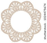 invitation card with mandala. | Shutterstock .eps vector #1024475674