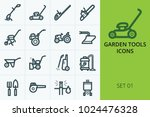 garden tools icons set. set of... | Shutterstock .eps vector #1024476328
