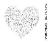 heart of silver music note... | Shutterstock .eps vector #1024476349