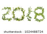 2018 word of creeper flower... | Shutterstock . vector #1024488724