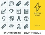 electric icons set. set of... | Shutterstock .eps vector #1024490023