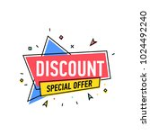 discount proposition sticker in ... | Shutterstock .eps vector #1024492240