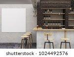 modern loft bar or pub interior ... | Shutterstock . vector #1024492576