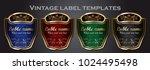 set of gold framed vintage...   Shutterstock .eps vector #1024495498
