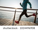 sporty fitness female runner... | Shutterstock . vector #1024496908