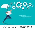 businessman holding a butterfly ...   Shutterstock .eps vector #1024498519