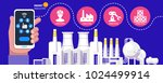 industry 4.0 physical systems... | Shutterstock .eps vector #1024499914