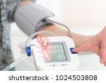 doctor cardiologist measuring... | Shutterstock . vector #1024503808