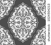 black and white ornamental...   Shutterstock .eps vector #1024504213