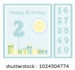birthday party invitation card  ... | Shutterstock .eps vector #1024504774