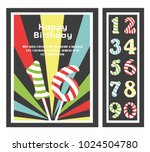 birthday party invitation card  ... | Shutterstock .eps vector #1024504780