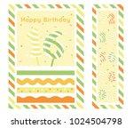 birthday party invitation card  ... | Shutterstock .eps vector #1024504798