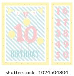 birthday party invitation card  ... | Shutterstock .eps vector #1024504804