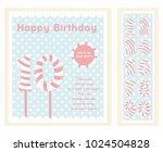 birthday party invitation card  ... | Shutterstock .eps vector #1024504828
