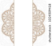 invitation card with mandala. | Shutterstock .eps vector #1024509418