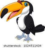 cartoon toucan bird isolated on ... | Shutterstock .eps vector #1024511434