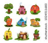 cartoon set of fairy tale...   Shutterstock .eps vector #1024511683