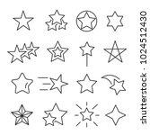 stars line icon set. decorative ... | Shutterstock .eps vector #1024512430