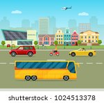 city street panoramic. city... | Shutterstock .eps vector #1024513378