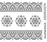 henna tattoo flower template... | Shutterstock .eps vector #1024515274