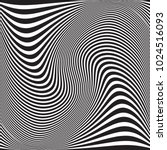 wavy geometric pattern.... | Shutterstock .eps vector #1024516093