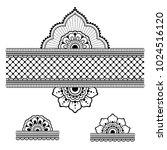 henna tattoo flower template... | Shutterstock .eps vector #1024516120