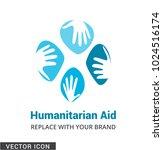 hand care concept logo icon | Shutterstock .eps vector #1024516174