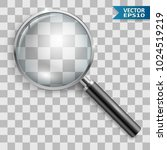 magnifying glass. loupe. hand... | Shutterstock .eps vector #1024519219
