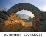ancient olympia  greece ... | Shutterstock . vector #1024520293