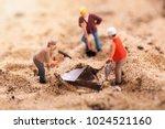 diamond mining and treasure... | Shutterstock . vector #1024521160