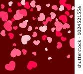 pink hearts random falling on...   Shutterstock .eps vector #1024521556