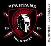 emblem of spartan warrior. lofo ... | Shutterstock .eps vector #1024522828