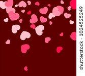pink hearts random falling on...   Shutterstock .eps vector #1024525249